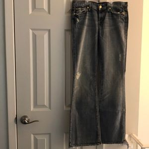 7 For All Mankind Jeans - 7 for all mankind the flare distressed jeans